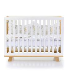 Кроватка детская Верес Соня ЛД-1 Манхеттен бело-буковая без ящика
