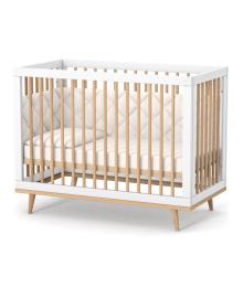 Кроватка детская Верес ЛД-2 Нью-Йорк бело-буковая без ящика