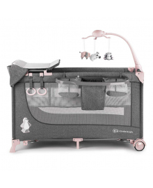 Кроватка-манеж Кinderkraft Joy Pink с аксессуарами