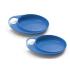 Тарелка для кормления Нувiта Easy Eating мелкая 2шт. (NV8451Blue)