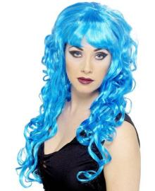 Парик Мальвины (голубой) 220216-192