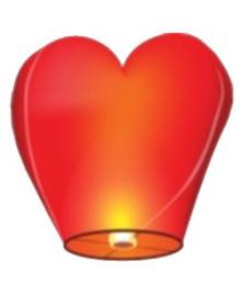 Небесный фонарик Сердце 270216-461