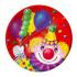 Тарелка бум Клоун с шарами 17см 6шт 1502-0462