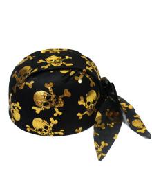 Шапка бандана с черепами (золото) 170216-118 PartyFactory