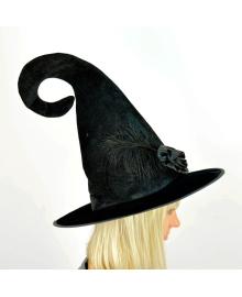 Шляпа ведьмы с розой (черная) 170216-370