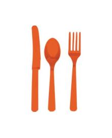 Столовые приборы оранжевые 1502-1080
