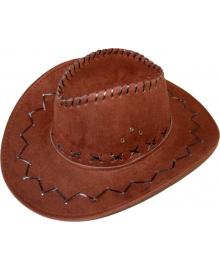 Шляпа ковбоя замшевая (темно-коричневая) 170216-362 Bestoyard