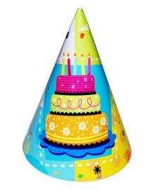 Колпак праздничный Торт 160216-063 4party