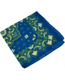 Бандана синяя с узором 020316-200