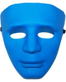 Маска лицо человека (Синяя) 240216-117