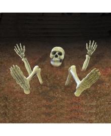 Декорация Скелет в земле 1501-4236