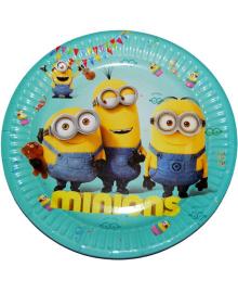 Тарелки праздничные Миньоны 6 шт 250216-605