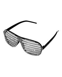 Очки Жалюзи со стразами (Черные) 250216-1500