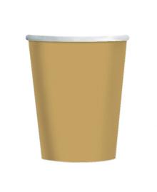Стаканы золотые 8 шт 3502-0124