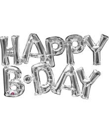 Надпись фольга Happy Birthday (серебро) 010917-523