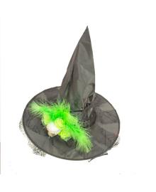 Колпак Ведьмы с зеленым черепом 260917-116 PartyFactory