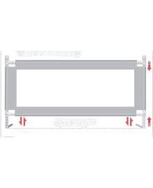 Барьер на кровать 2 метра серый Z2134 Стандартный серый  Lapchu