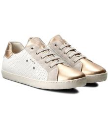GEOX Кроссовки для девочки, белый, размер 30
