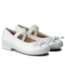 GEOX Туфли для девочки, белый, размер 27