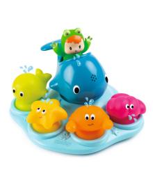 """SMOBY Набор для ванны Cotoons """"Веселые животные"""" на присосках, 12 мес. +"""