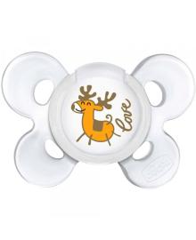 CHICCO Соска Physio Сomfort силиконовая от 0 до 6 месяцев 1шт. (Серия Special edition / Christmas