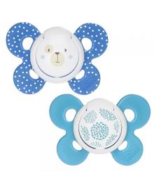 CHICCO Пустышка Physio Comfort силиконовая от 6 до 16 месяцев 2шт. (Мальчик)