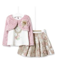 Комплект для девочки 3 в 1 Have a good day, розовый  Baby Rose 2936