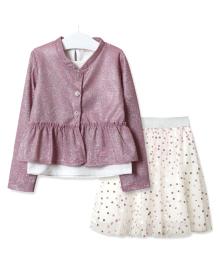 Комплект для девочки 3 в 1 Зонтик, розовый Baby Rose 2807