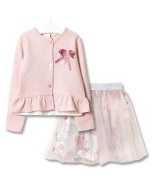 Комплект для девочки 3 в 1 Модница, розовый Baby Rose 2958