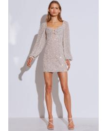 Платье женское с паетками Disco Berni Fashion WF-1363