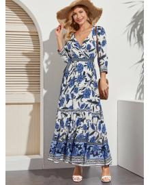Платье женское в стиле Бохо Blue peony Berni Fashion WF-1363