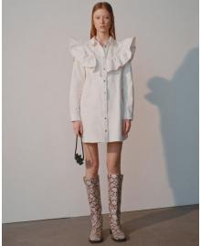 Платье-рубашка женское White denim Berni Fashion WF-1363