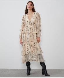 Платье женское с воланами Peas Berni Fashion WF-1363