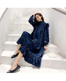 Платье женское с оборками Azure Berni Fashion WF-1363