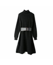 Платье женское вязаное Black Berni Fashion WF-1363