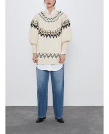 Свитер женский с фактурным орнаментом Pattern Berni Fashion WF-2591