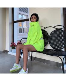 Свитер женский неоновый oversize Brightness Berni Fashion WF-8515