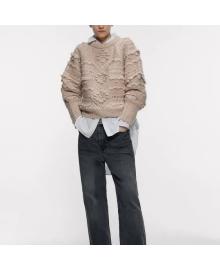 Джемпер женский с фактурным узором Texture Berni Fashion WF-9355