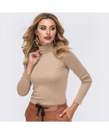Водолазка женская с воротником на кнопках Search Berni Fashion WF-8093