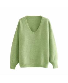 Пуловер женский вязаный с v-образным вырезом Rest Berni Fashion WF-9213