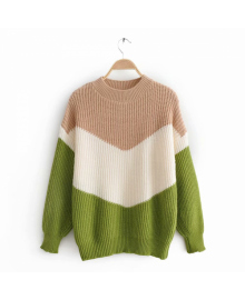Свитер женский контрастной расцветки Tricolor Berni Fashion WF-9862