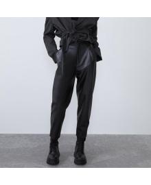 Брюки женские slouchy из искусственной кожи Urban Berni Fashion WF-6577