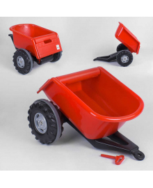 Прицеп к педальным тракторам Pilsan Trailer 07-295 (1) КРАСНЫЙ Igr-90529