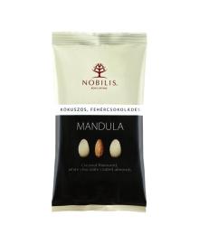 Конфеты Nobilis Миндаль в белом шоколаде и кокосе, 103 г