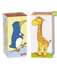Детские Кубики Животные Goki 57725