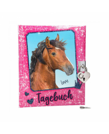 Дневник для записей на замочке,розов Horses Dreams