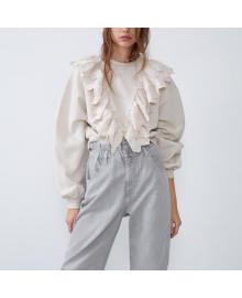 Свитшот женский с кружевной отделкой Lace Berni Fashion WF-1495