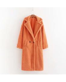Пальто женское из искусственного меха Style, оранжевый Berni Fashion WF-2645