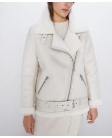 Дубленка женская oversize из искусственного меха Frost Berni Fashion WF