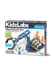 Детский игровой научный набор от 8 лет 4M Гидравлическая мегарука (00-03427), 4893156034274